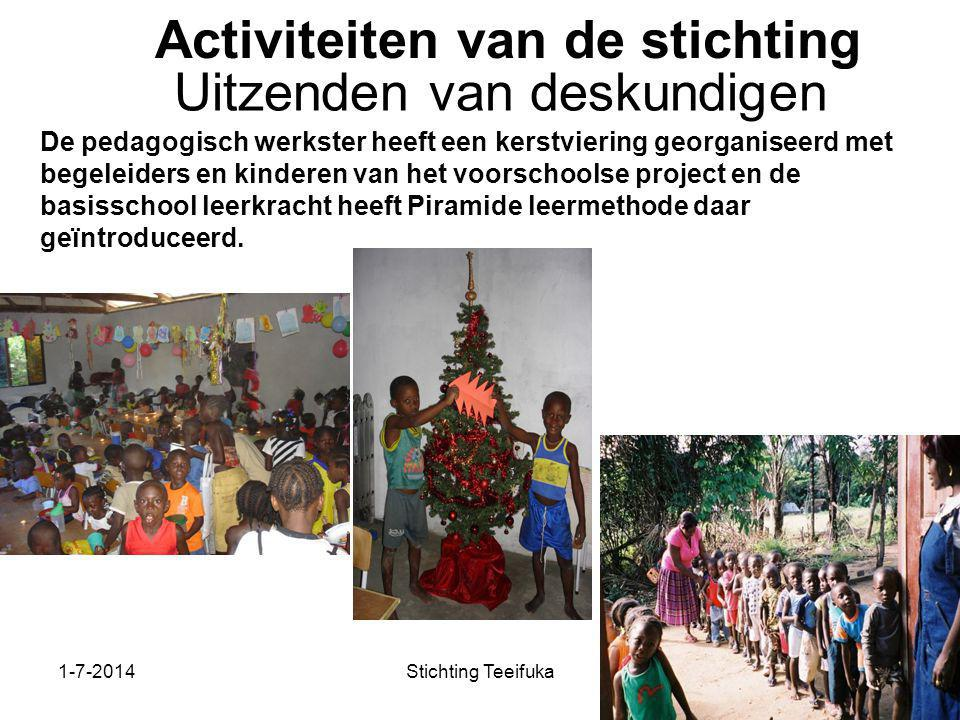 Activiteiten van de stichting