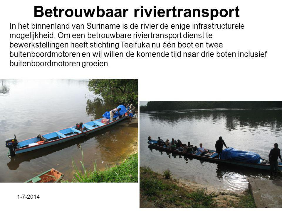 Betrouwbaar riviertransport