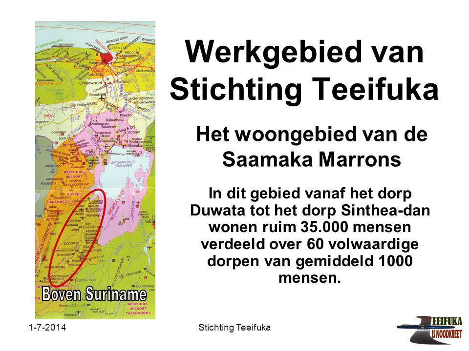 Werkgebied van Stichting Teeifuka