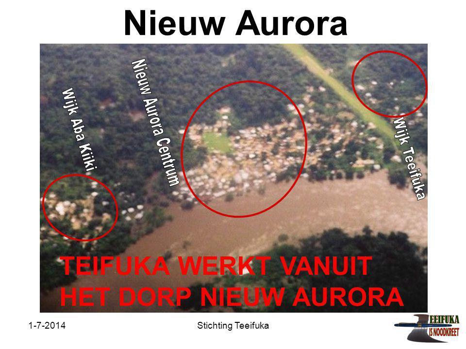 Nieuw Aurora TEIFUKA WERKT VANUIT HET DORP NIEUW AURORA
