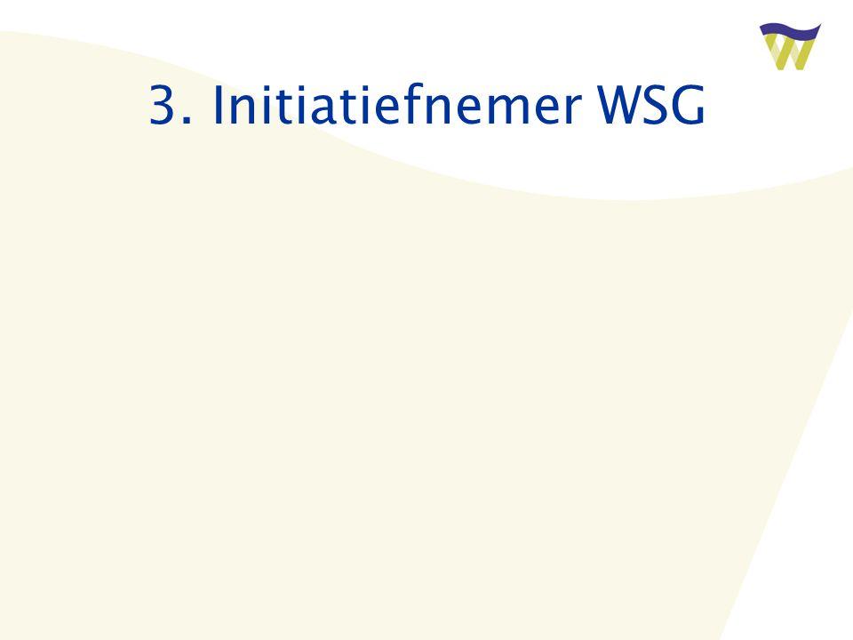 3. Initiatiefnemer WSG