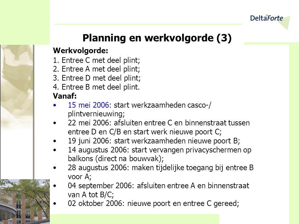Planning en werkvolgorde (3)