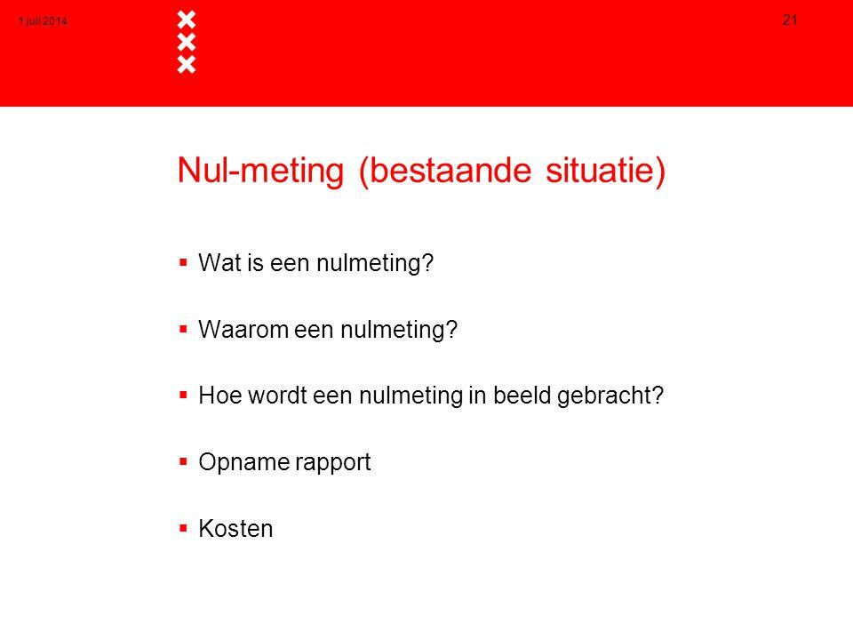Nul-meting (bestaande situatie)