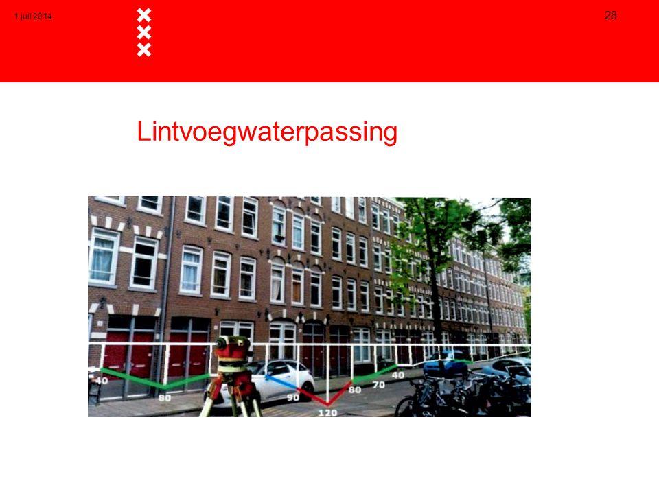 Lintvoegwaterpassing