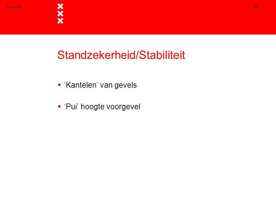 Standzekerheid/Stabiliteit