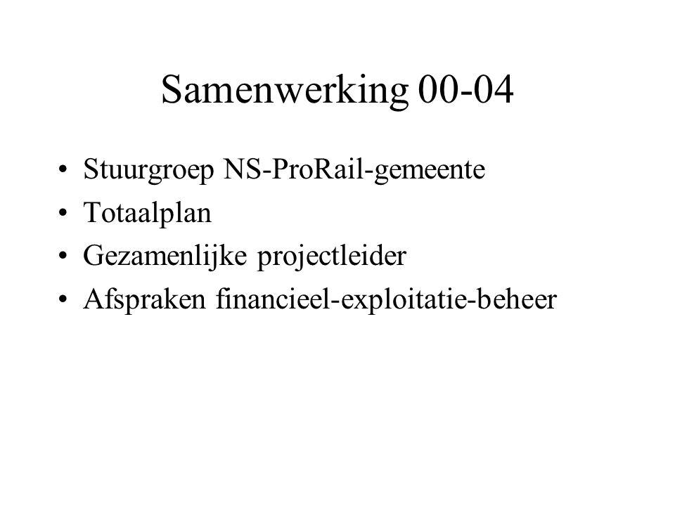 Samenwerking 00-04 Stuurgroep NS-ProRail-gemeente Totaalplan