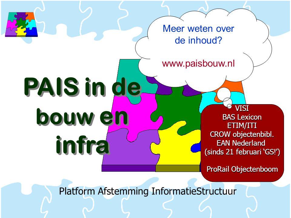 PAIS in de bouw en infra Meer weten over de inhoud www.paisbouw.nl