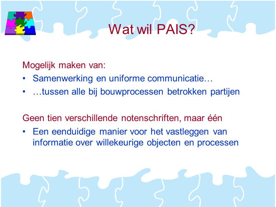Wat wil PAIS Mogelijk maken van: