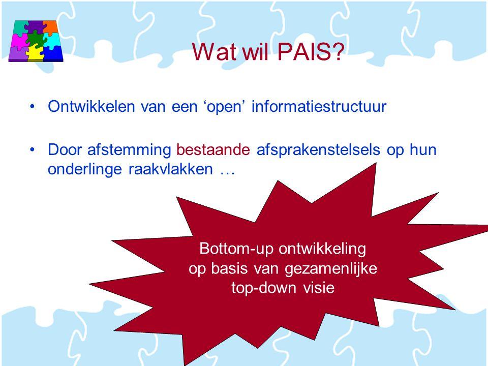 Wat wil PAIS Ontwikkelen van een 'open' informatiestructuur