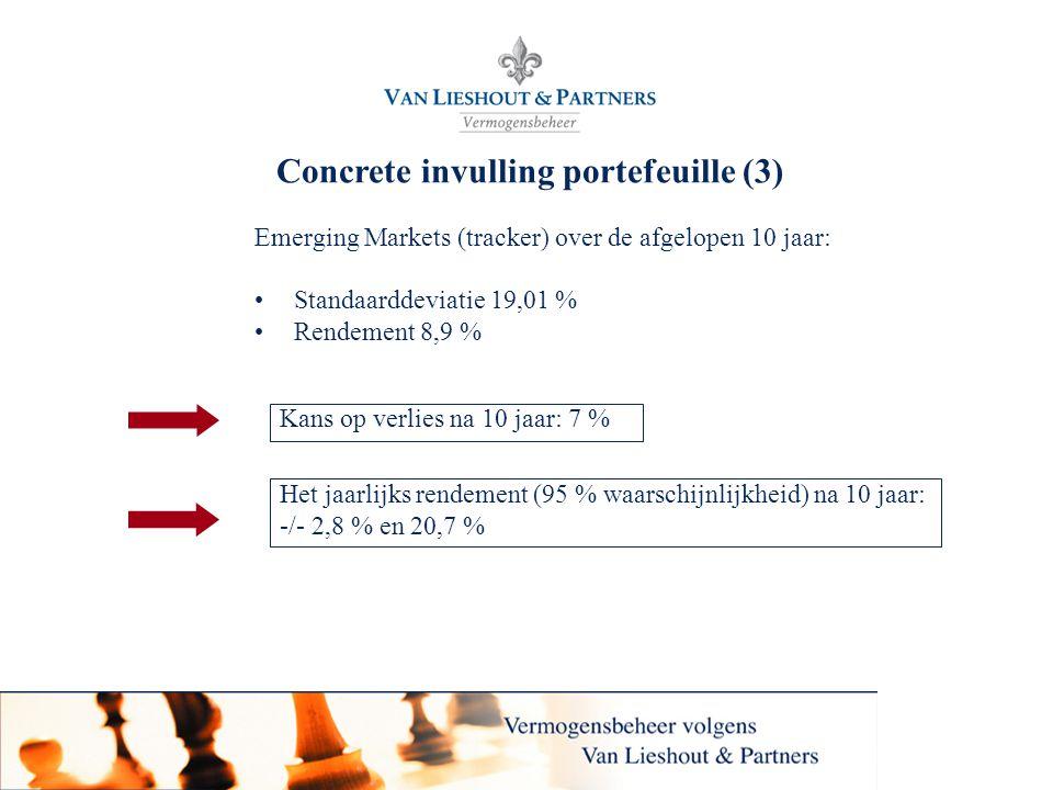 Concrete invulling portefeuille (3)