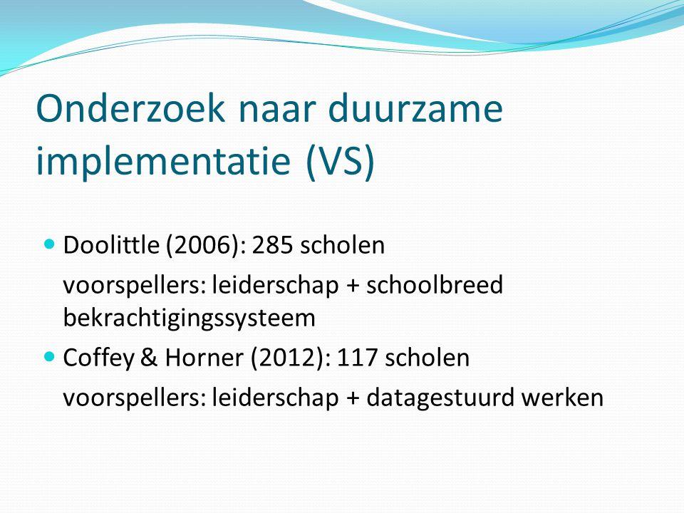 Onderzoek naar duurzame implementatie (VS)