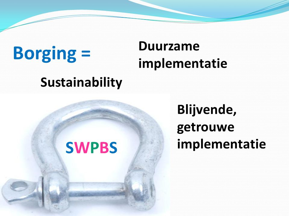 Borging = SWPBS Duurzame implementatie Sustainability