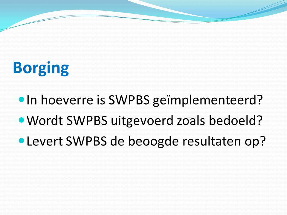 Borging In hoeverre is SWPBS geïmplementeerd