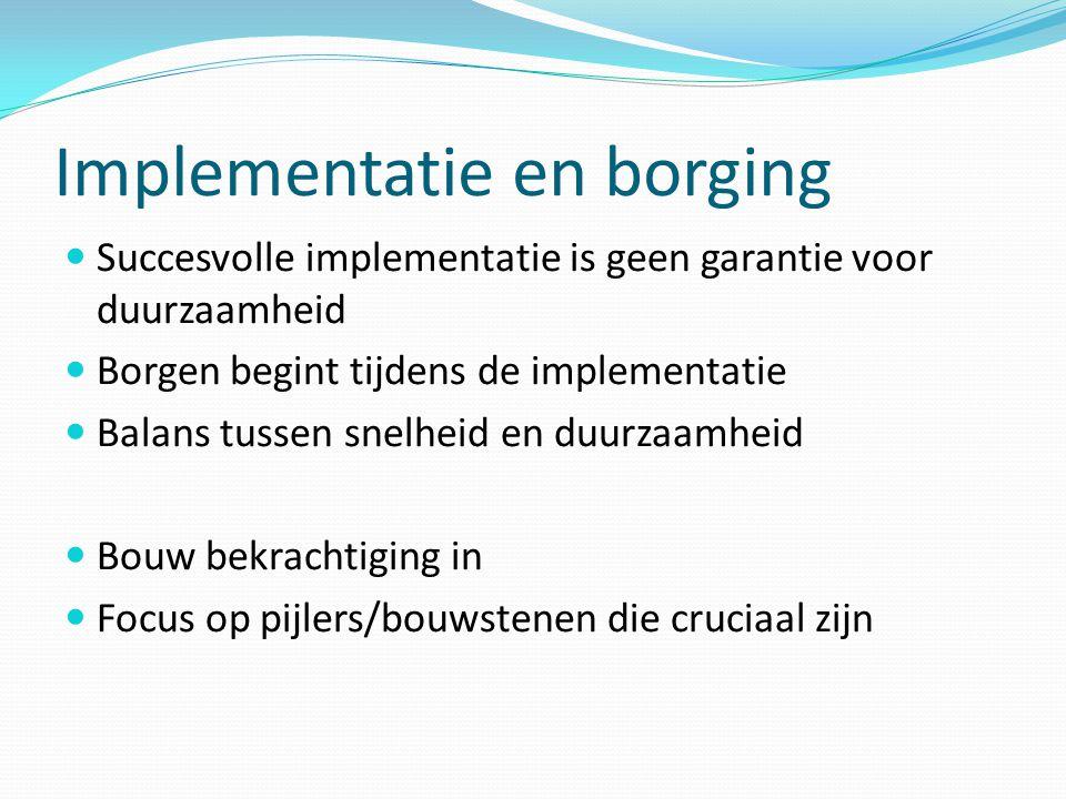 Implementatie en borging