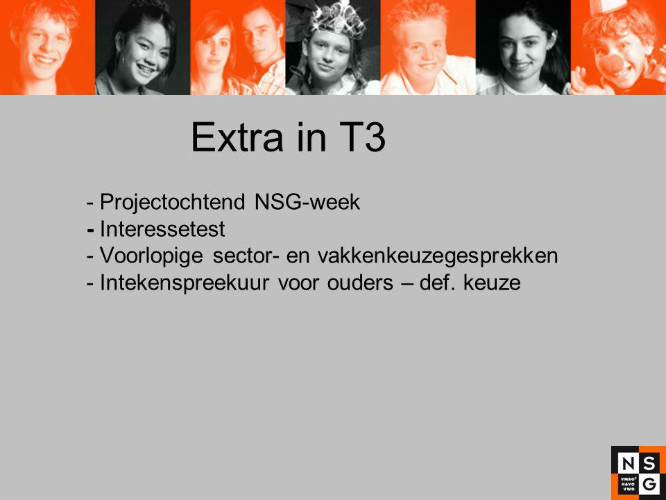 Extra in T3 - Projectochtend NSG-week - Interessetest