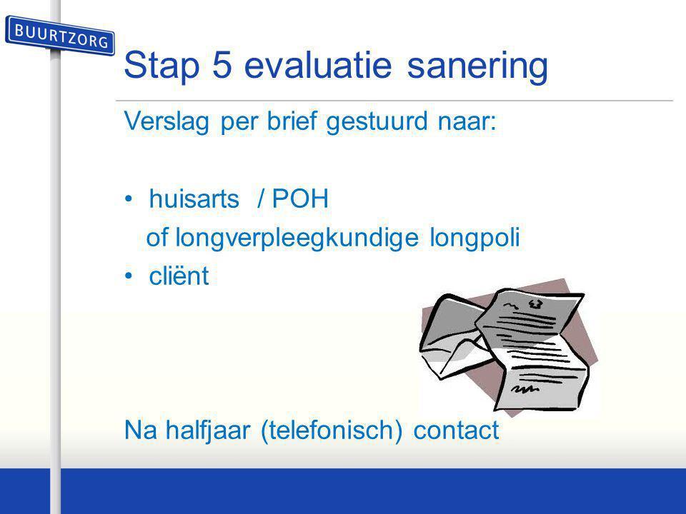 Stap 5 evaluatie sanering