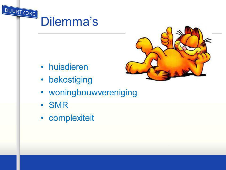 Dilemma's huisdieren bekostiging woningbouwvereniging SMR complexiteit