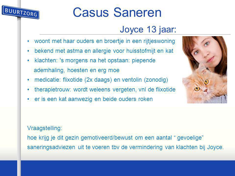 Casus Saneren Joyce 13 jaar: