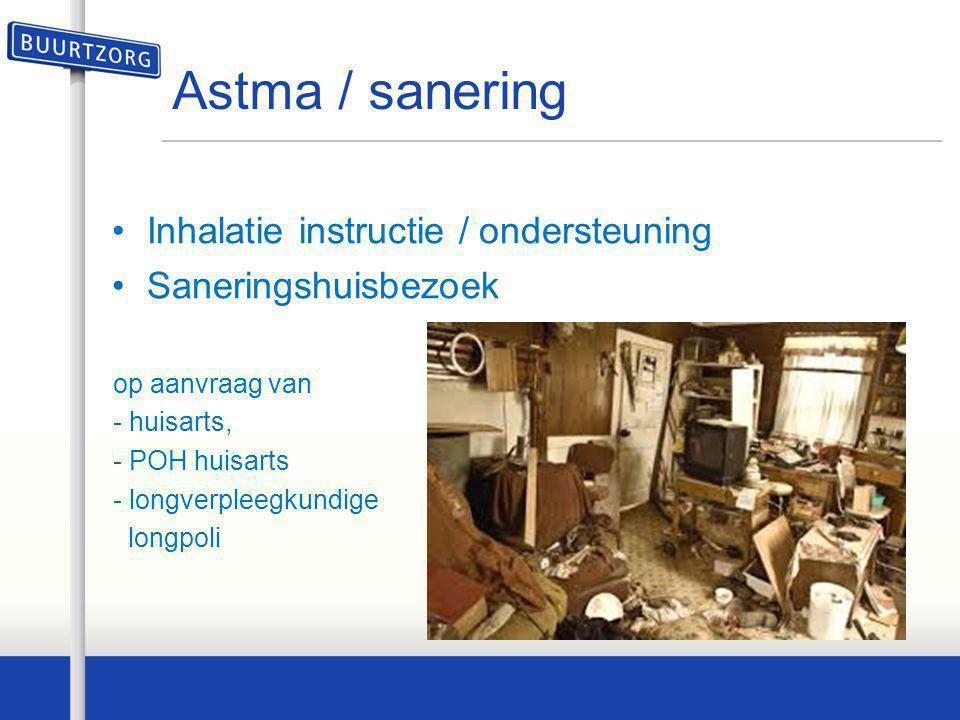 Astma / sanering Inhalatie instructie / ondersteuning
