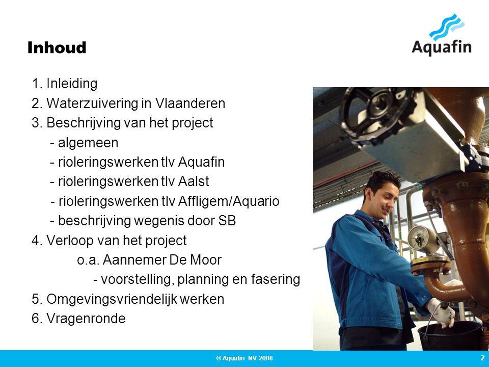 Inhoud 1. Inleiding 2. Waterzuivering in Vlaanderen