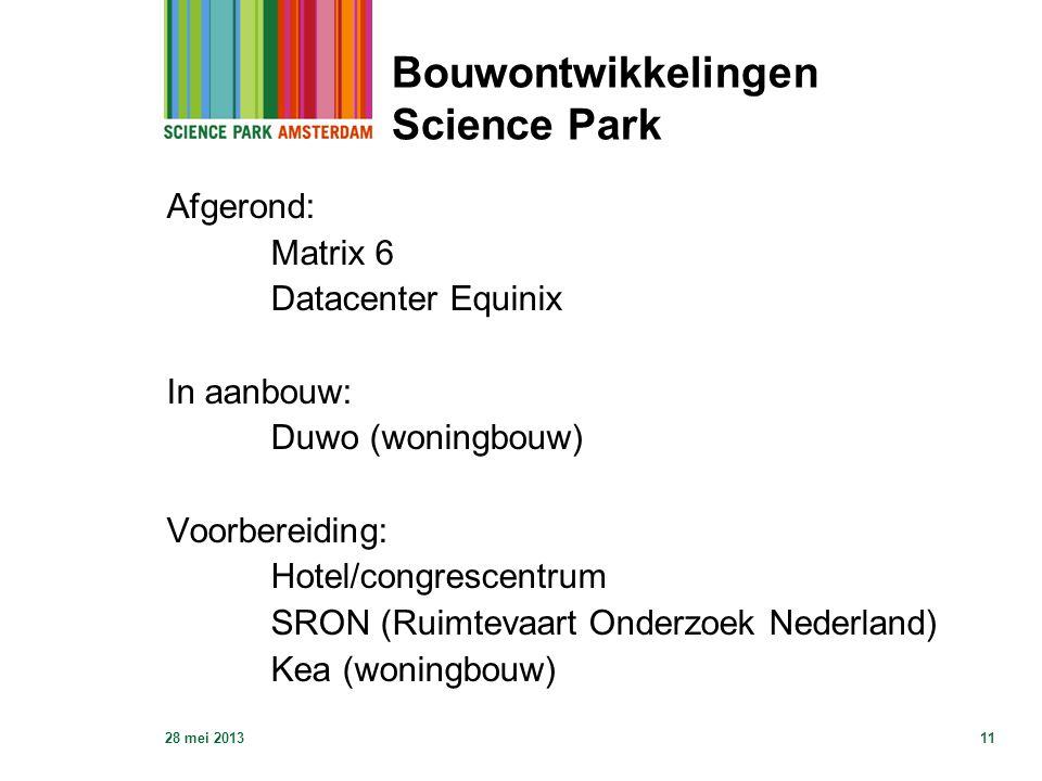 Bouwontwikkelingen Science Park