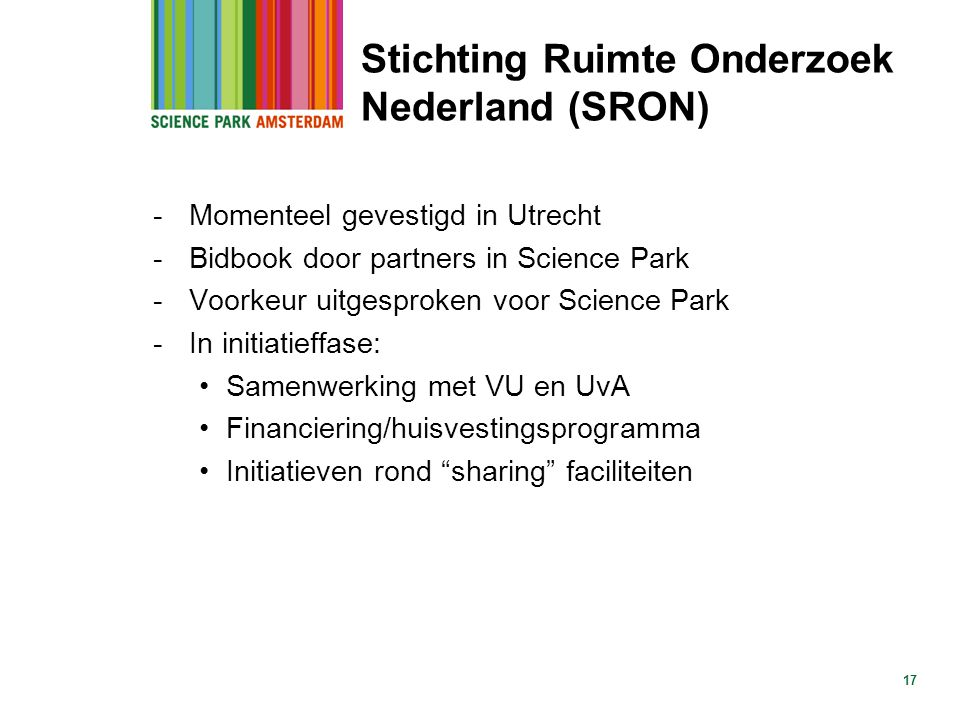 Stichting Ruimte Onderzoek Nederland (SRON)