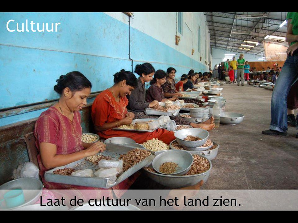 Laat de cultuur van het land zien.