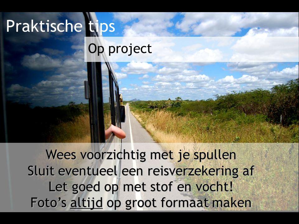 Praktische tips Op project