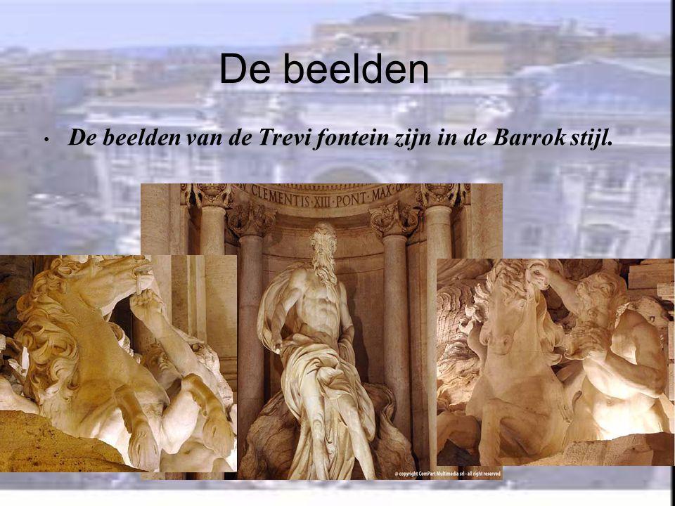 De beelden De beelden van de Trevi fontein zijn in de Barrok stijl.