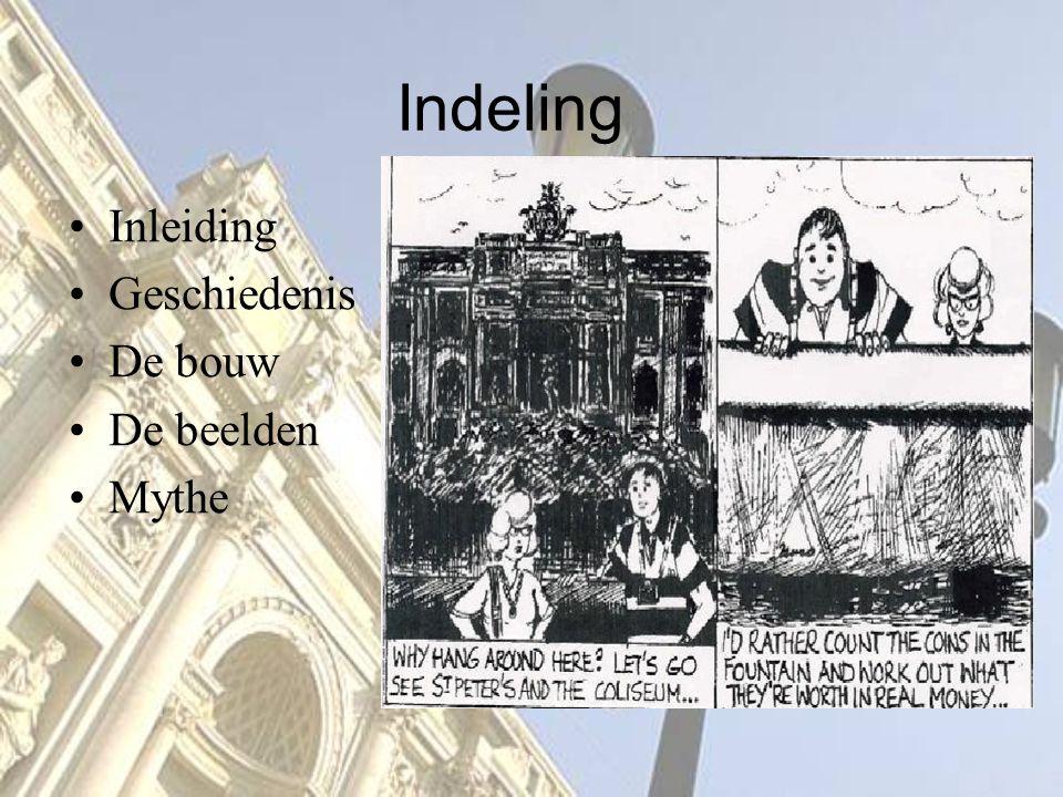 Indeling Inleiding Geschiedenis De bouw De beelden Mythe