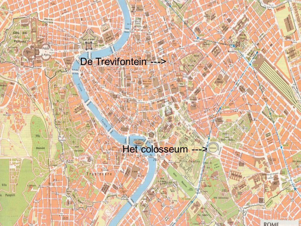 Het colosseum ---> Ineiding De Trevifontein --->