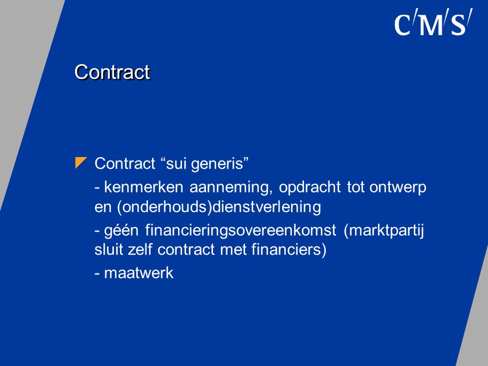 Contract Contract sui generis
