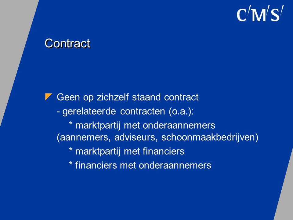 Contract Geen op zichzelf staand contract