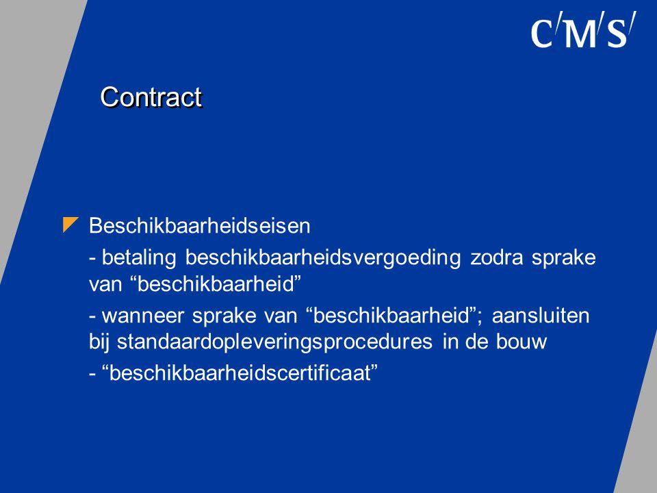 Contract Beschikbaarheidseisen