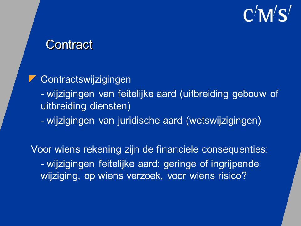 Contract Contractswijzigingen