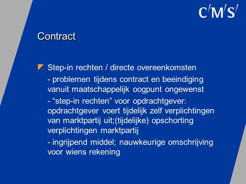 Contract Step-in rechten / directe overeenkomsten