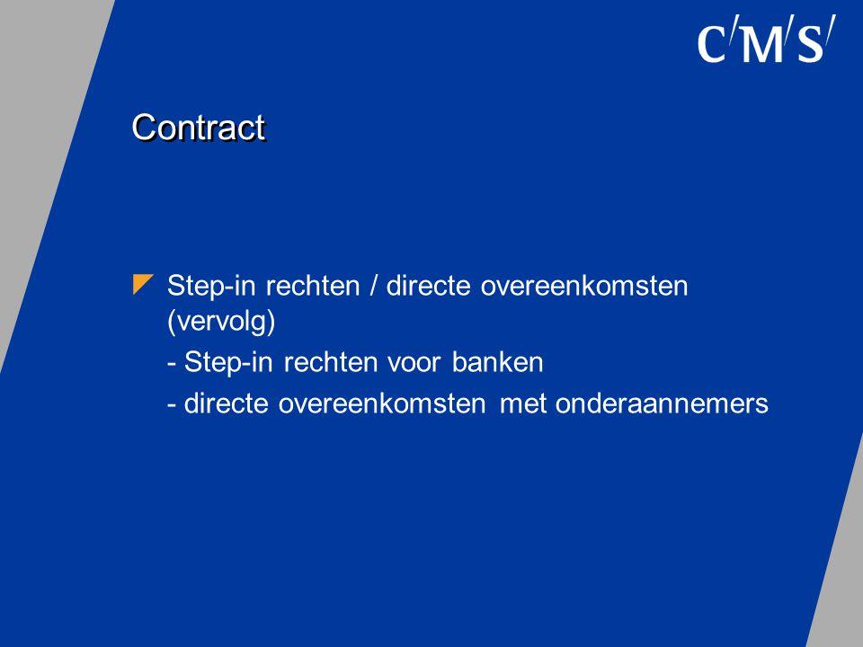 Contract Step-in rechten / directe overeenkomsten (vervolg)