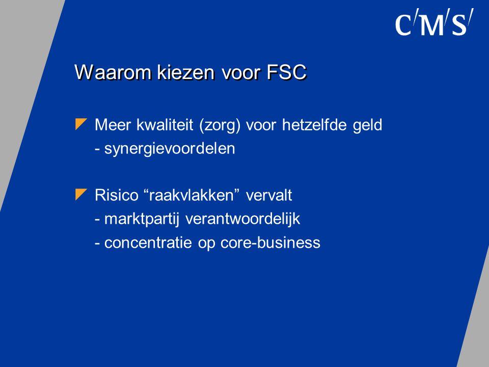 Waarom kiezen voor FSC Meer kwaliteit (zorg) voor hetzelfde geld