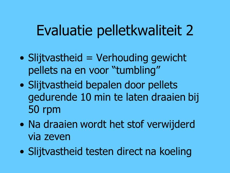 Evaluatie pelletkwaliteit 2