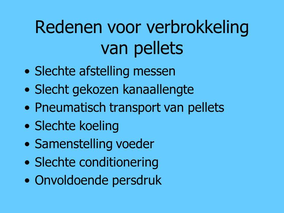 Redenen voor verbrokkeling van pellets