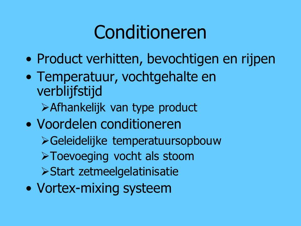 Conditioneren Product verhitten, bevochtigen en rijpen
