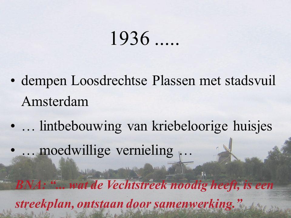 1936 ..... dempen Loosdrechtse Plassen met stadsvuil Amsterdam