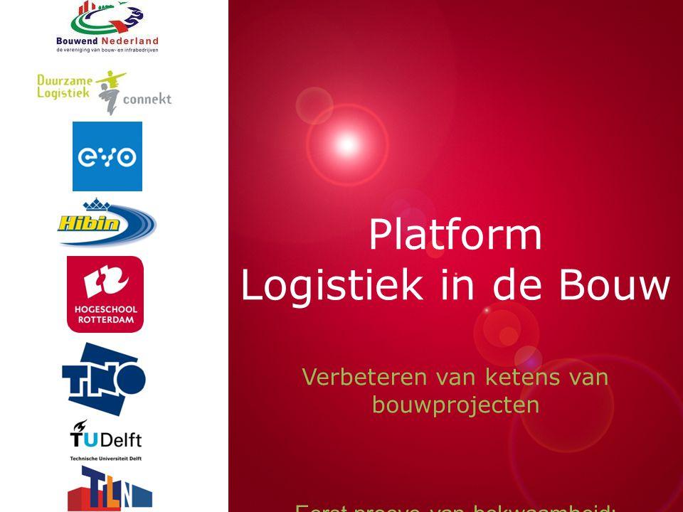 Presentatie titel Platform Logistiek in de Bouw