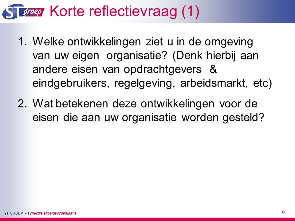 Korte reflectievraag (1)