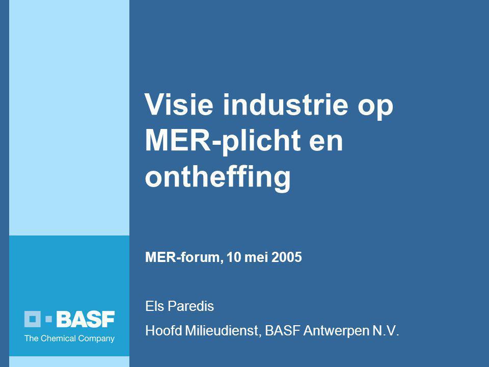 Visie industrie op MER-plicht en ontheffing