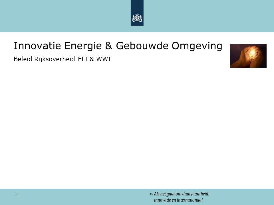 Innovatie Energie & Gebouwde Omgeving