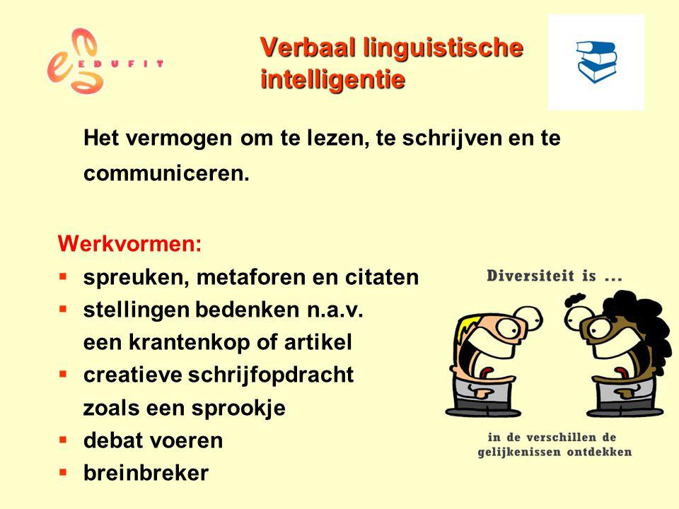 Verbaal linguistische intelligentie