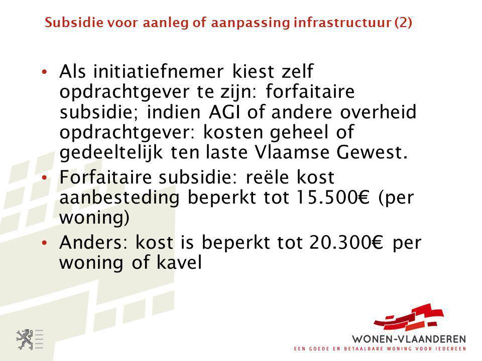 Subsidie voor aanleg of aanpassing infrastructuur (2)