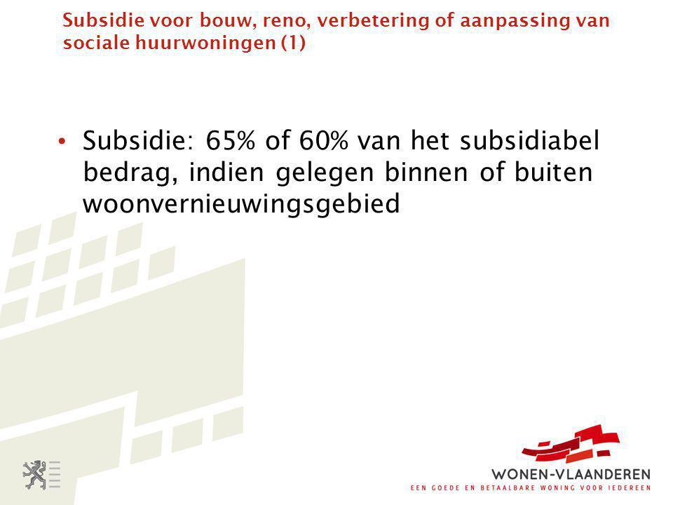 Subsidie voor bouw, reno, verbetering of aanpassing van sociale huurwoningen (1)