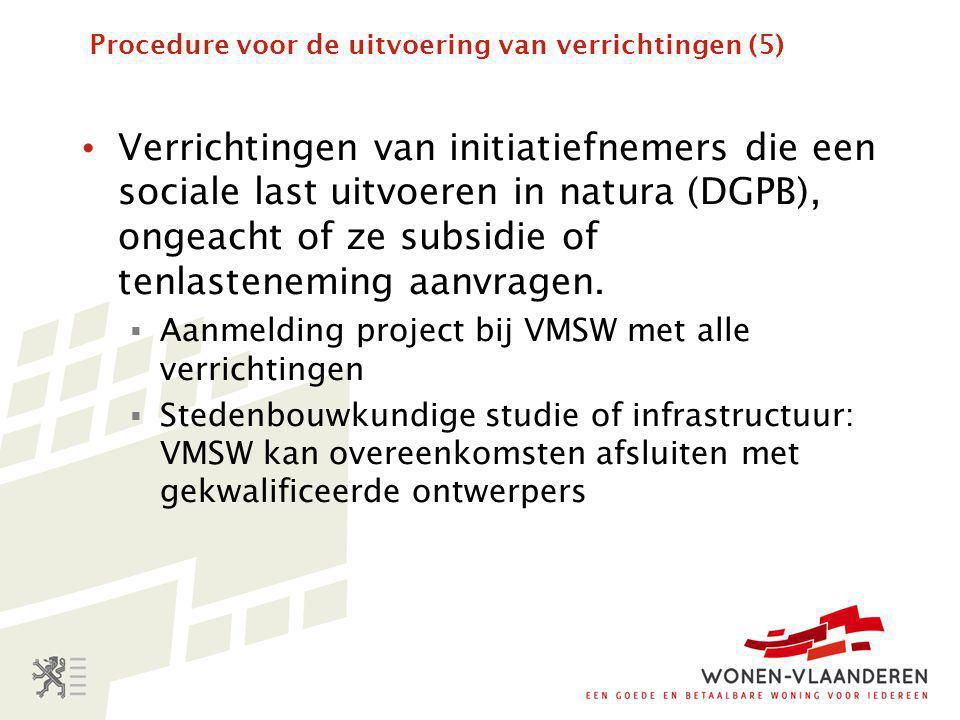 Procedure voor de uitvoering van verrichtingen (5)